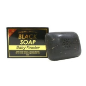 Original African Black Soap w/ Shea Butter & Cocoa Butter, Baby Powder 150ml