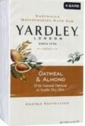 Yardley of London Naturally Moisturising Bar Soap Oatmeal & Almond 3+1 Free