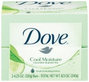 Dove Fresh Moisture Beauty Bathing Bar. Hydrating Milk. With Cucumber And Green Tea Scent.