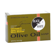 Black and White Olive Oil Soap 180ml