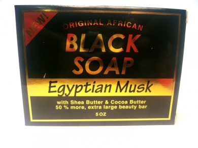 Original African Black Soap Egyptian Musk 160ml