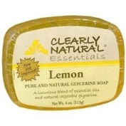 Clearly Natural Glycerine Soap Bar Lemon - 120ml, 4 pack