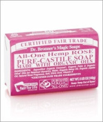 Dr. Bronner's Rose Bar Soap Made with Organic Ingredients 141 g