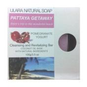 Natural Pomegranate Soap - Ulara Pattaya Getaway - 100g/100ml - Made with Pure Coconut Oil