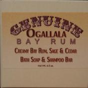 Two (2) Genuine Genuine Ogallala Bay Rum, Sage & Cedar Bath Soap/Shampoo Bar - 130ml each