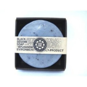 ARB - Aromatherapy Organic Face and Body Bar Soap 100 g. Round Shape - BLACK SESAME (Home made)- High Rank Selling at Japan