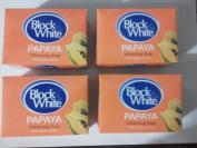 4 Block & White Papaya Whitening Soap w/papaya Extract 135g