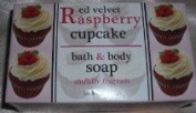 Red Velvet Raspberry Cupcake Bar Soap