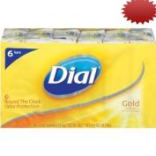 Dial Antibacterial Soap Bar, Gold, 6 Count