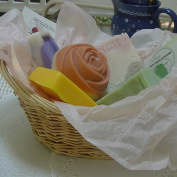 Five Piece All Natural Handmade Soap Gift Basket