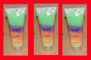 3x Swisa Beauty Dead Sea Salt Souffle Pure Vitamins Rain Bow