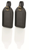 Travel Smart Large Leather Luggage Tags