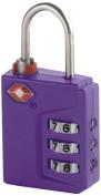 Travel Smart Travel Sentry 3-Dial Lock TSA Approved, Purple