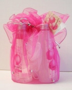 Pomegranate Bath & Body Gift Set Pink Pouch