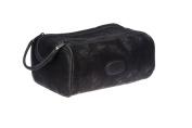 Danielle Hudson Men's Collection Midnight Black Dual Zip Bag, 22.9cm X 14cm X 8.9cm