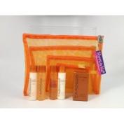 Mirra N Me Mesh Bag Travel Giftset Cali Tarocco Sicilian Red Orange Set 5