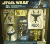Star Wars Bath & Body Set Clone Captain Rex Mitt Wash Shampoo Lightsaber Lip Wax ++
