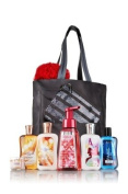 Bath & Body Works VIP Tote with Cashmere Glow, Paris Men, Paris Amour, Pink Champagne, and Cranberry Pear Bellini Products