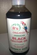 B's Organic Jamaican Black Castor Oil with Vitamin E & Panthenol Family Size