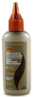 Clairol Beautiful Collection Advanced Grey Colour for Relaxed Hair #2A Rich Dark Brown 89 ml (3-Pack)
