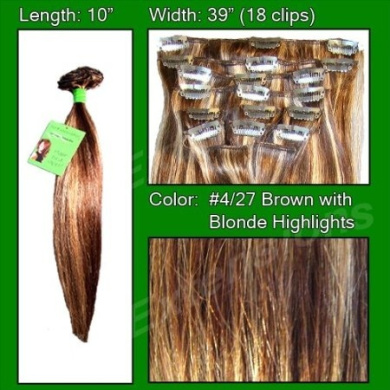 Brybelly Holdings PRST-10-427 No. 4-27 Brown with Blonde Highlights - 25cm