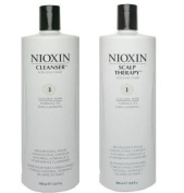 Nioxin System 1 Cleanser & Scalp Therapy Duo Set for Normal to Thin-looking Hair 1000ml