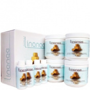 Linange No Lye Shea Butter Cream Relaxer Kit Sensitive Scalp Formula 4 Applications Kit Sale!!