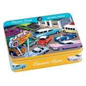 Classic Cars 100 Piece Puzzle Tin