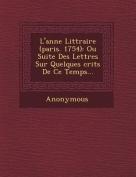 L'Ann E Litt Raire (Paris. 1754) [FRE]