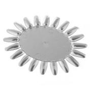 5 Clear Acrylic UV Gel Nail Art Design Display Tips Practise Round Wheel Tool