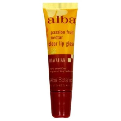 Alba Botanicals Passion Fruit Clear Lip-gloss ( 12x.42 OZ)