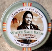 3 Tins of Navajo Medicine Of The People White Sage Dry Lips Lip Balm - Minor Skin Ailments, 20ml each, Outstanding Product