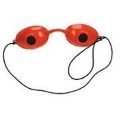 Super Sunnies UV Eye Protection Tanning Goggles Eyeshields One Pair