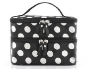 Double Layer Black and White Cosmetic Bag