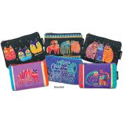 """Cosmetic Bag Zipper Top Assortment 23cm x 2.5cm X6""""-Feline Prints"""