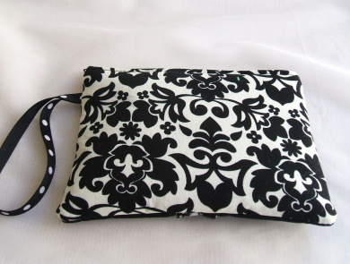 New Black Zen Charmer Pouch, Cosmetic Bag