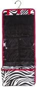Hanging Cosmetic Makeup Toiletry Bag Case Red Trim Black White Zebra Print