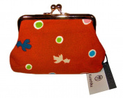 Goldfish Red Kimono Print Chirimen Cosmetic Pouch