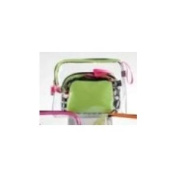Giftcraft PVC Cosmetic Travel Gift Storage Zipper Bag Set of 3 - Green