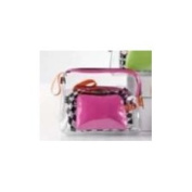 Giftcraft PVC Cosmetic Travel Gift Storage Zipper Bag Set of 3 - Pink
