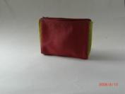 Leather Make up Bag red