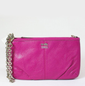 Coach Madison Leather Large Chain Wristlet 48669, Magenta