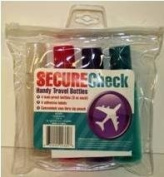 Secure Cheque Handy Travel Bottles