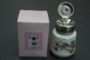 Flower Patterned Porcelain Bottle with Stainless Steel Liquid Pump (Size