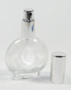1 Oz Empty Refillable Circle Glass Perfume Bottle Atomizer 30 Ml