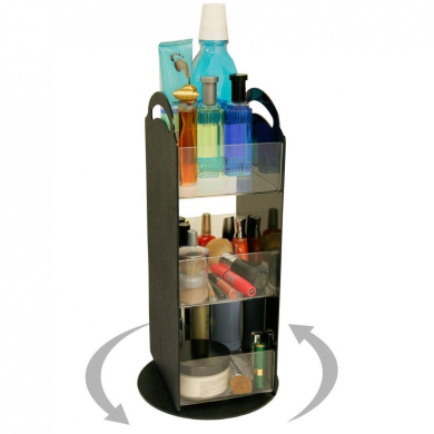 """Cosmetic Organiser """"Spinner"""" Only 20.3cm of Space with Clear Acrylic Shelves. Short on Space. This Is the Perfect Answer. A Very Cute Way to """"Triple"""" Your Storage! Proudly Made in the USA! by PPM."""