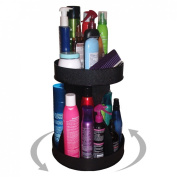 Cosmetic Organiser for Tall Bottles and Spins for Easy Access. No More Clutter! Saves Space , Only 30.5cm of Counter Space Needed. Proudly Made in the USA!