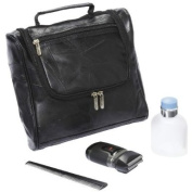 "EmbassyTM Italian StoneTM Design Genuine Lambskin Leather Toiletry Bag comes with 2.5cm FREE"" Mini First Aid Kit"