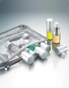 Pitotubes TSA Approved Six Piece Clear Travel Carry On Cosmetics Bag Kit