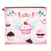 Cupcake Heaven Cosmetic Bag / Cupcake Heaven and Cupcake Angels Flat Makeup / Cosmetic Bag